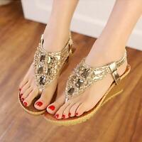 Women Platform Wedge High Heels Sandals Ladies Summer Flip Flops Shoes Size5-8.5