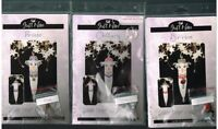 JUST NAN  SNOWDROP COLLECTION CROSS STITCH 3 CHARTS & EMB PACK  LOT, NEW!!!