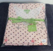 Women's Vera Bradley Knit Pajama Set Blush Heartts Large 12-14