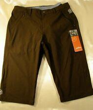 NOVARA Brown Recycled Nylon Padded Gel Seat Cycling Bike Shorts Size M
