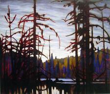 "Lawren Harris, Group of Seven  ""Beaver Swamp"" Large Print"