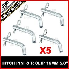 "5 x HITCH PIN & R CLIP 16MM 5/8"" TOWBAR DROP TOW BAR TRAILER 4WD BALL MOUNT BOAT"