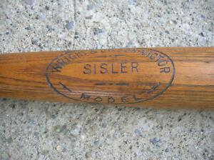 """35"""" Wright & Ditson George Sisler Model baseball bat 1920s"""