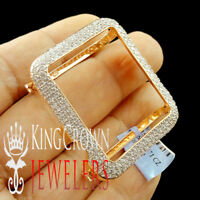 High Quality Apple Watch Bezel 10K Rose Gold Over Silver Diamond 42mm Series # 3
