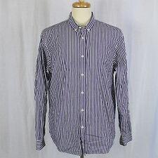 Ben Sherman Men Stripe Long Sleeve 100% Cotton Button Up Shirt Sz XXL 2XL EUC