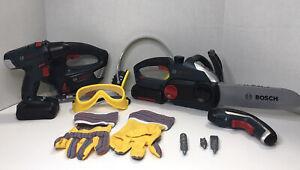 Bosch Large Toy Power Tools 11-Piece Set Worker Carpenter Pretend Play Tool Kids
