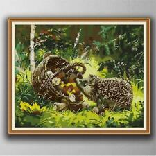 "Joy Sunday Counted Cross Stitch Kit ""Little Hedgehog 2"" Nip"