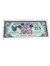 2001 Disney Dollar $10 Minnie And Mickey Low A A Number