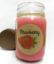 Strawberry 16oz Country Jar Soy Candle wholesale scented candles