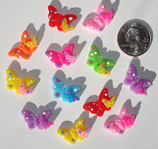 Butterfly Resin Flatbacks bows embellishments scrapbooking flat back glue on