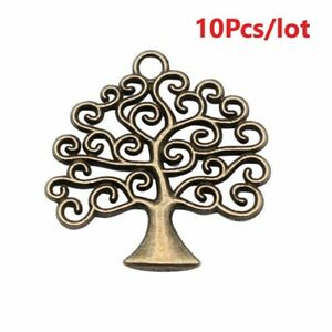 10pcs 26x26mm Antique Bronze Color Life Tree Charms Pendants For Jewelry Finding