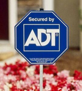 NEW 2021 ADT SECURITY YARD SIGN &  WATERPROOF & UV RESISTANT AUTHENTIC.