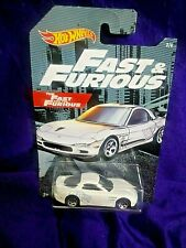Hot Wheels Fast & Furious '95 Mazda RX-7 White Die-Cast 1:64 Scale New #2/6