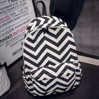 Womens Girls Canvas Shoulder School Bag Travel Backpack Satchel Rucksack Handbag