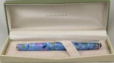 Levenger True Writer Water Lilies & Chrome Fountain Pen - Fine Nib - New