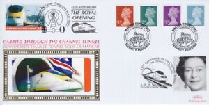 GB STAMPS CHANNEL TUNNEL FIRST DAY COVER 2009 HIGH VALUE MACHINS