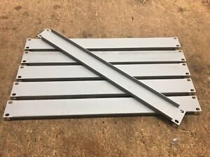 "(Lot of 6) Middle Atlantic 1U 19"" rack covers blank panels Gray"