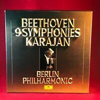 Beethoven Karajan Berlin Philharmonic 9 Symphonies 1977 UK 8 X Vinyl LP Box Set