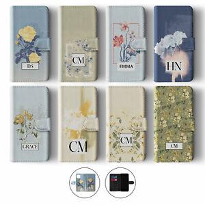 Tirita Personalised Wallet Flip Case for iPhone 12 11 SE 8 Floral Flowers Spring