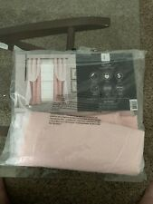 Lush Décor Grommet Sheer Panels with Insulated Blackout Lining Pink Set 38X63