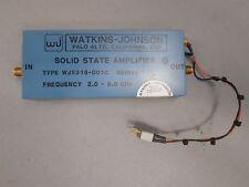 Watkins-Johnson 290086P2 Solid State Amplifier 2-8GHz Type: WJ5318-001C