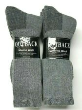 3 or 6 Pair Men's Out Door Merino Wool Work / Hiking Gray Boot Sock SZ 13-15.