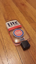 "MILLER LITE DETROIT PISTONS NBA BEER TAP HANDLE TAPPER 6.25"" Vintage"