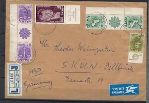 Israel R-Brief mit Rand - SZ 228, 230, nach Koeln #l785