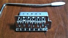"REPLACEMENT ""STRAT"" STYLE VINTAGE TREMOLO BRIDGE, CHROME, NEW, FREE POSTAGE"