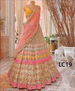Lehenga Choli Bollywood Sari Wedding Designer Bridal Hochzeit Lehenga Choli