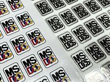 MSDOS DOS MS-DOS Microsoft Custom Vintage Computer Case Badge Sticker WHT