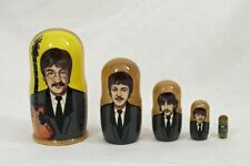 5 pcs Russian Nesting Doll the Beatles #3678