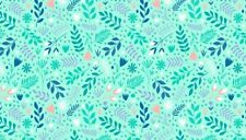 Floral Splendour LEAVES  Cotton fabric 55cm x 50cm larger available Sewing,craft