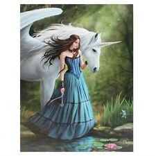 ENCHANTED POOL ANNE STOKES SMALL CANVAS PICTURE ART PRINT PEGASUS UNICORN LILY