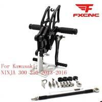 CNC Adjustable Rearset Foot pegs Rear set Footrest For Kawasaki Motorcycle