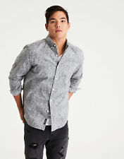 American Eagle Outfitters Aeo GREY FLORAL PRINT Men Poplin Shirt Top Classic XXL