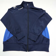Kappa Mens X-Large Navy Blue Full Zip Fleece Athletic Sport Running Track Jacket