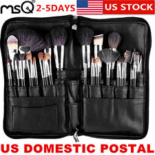 US Delivery MSQ PRO 32PCs Makeup Brushes Cosmetic Tool Sable Hair Belt Bag Black