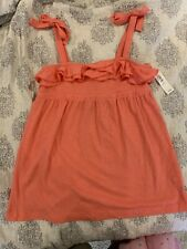 NWT Old Navy tank top tunic size 10/12 girls/large/coral/sleeveless