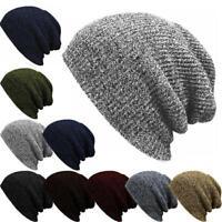 Unisex Beanies Winter Warm Multicolor Ski Hat Comfort Slouch Cap Baggy Hats HO