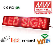 """New Update 8""""X40"""" LED Sign RED LED Programmable Scrolling Message Display Board"""