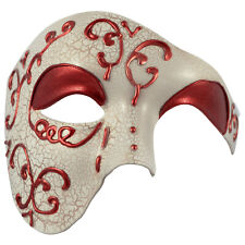 MENS MASQUERADE Mask Phantom of the Opera Half Face MASK | Venetian Ball Prom