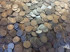 Edward Pennies coin brass PENNIES bulk lot 500 coins in this large lot