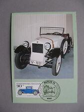 GERMANY BERLIN, maximumcard maxi card 1982, car DKW F1 1931