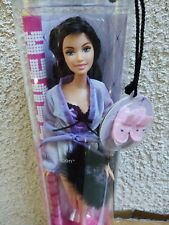 2005 Barbie Fashion Fever Raquelle PJ Collection Bunny Slippers Black Purple
