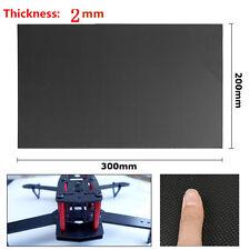 New 200×300×2mm 100% Real Carbon Fiber Plate Panel Sheet 3K Plain Weave
