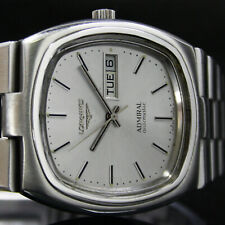 Mens LONGINES Admiral Q/S Day Date Vintage Watch