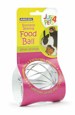 Ancol Food Ball Boredom Beating Veg Treat Metal Play Ball Rabbits Guinea Pigs
