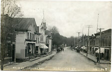 RPPC NY Worcester Main Street Looking West 1912 Otsego County