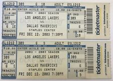 (2) 2003 Los Angeles LAKERS vs. Dallas MAVERICKS TICKETS Kobe SHAQ Nowitzki NASH